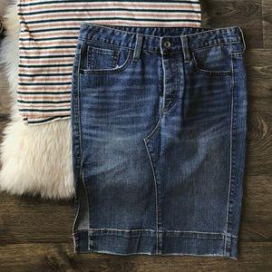 Sz 4 Levi's Denim Pencil Skirt Size 4